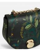ALVIERO MARTINI I^CLASSE Miss Bag Tracolla tonda in tessuto Geo stampa foliage abete